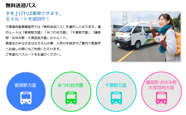 千葉県自動車教習所送迎バス時刻表